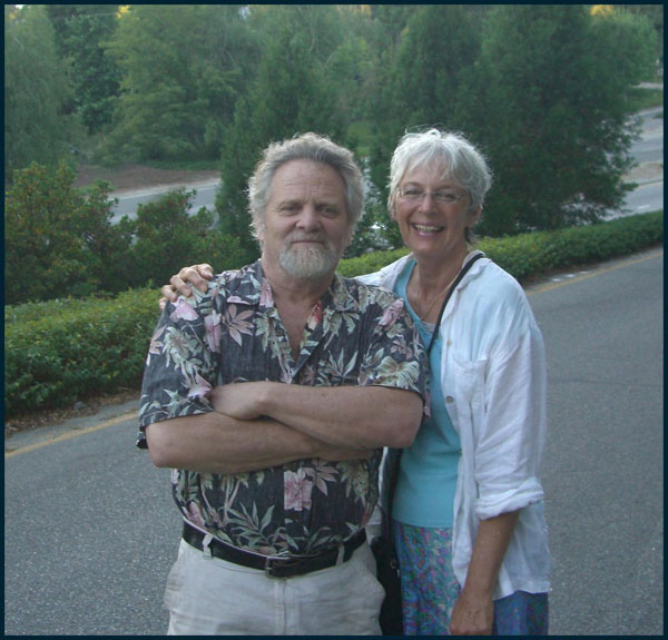 Nik C. Colyer, author and his wife Barbara